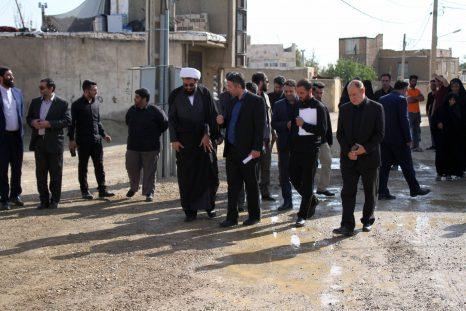 حضور نماینده ولی فقیه در استان همدان در مناطق حاشیه ای شهر همدان